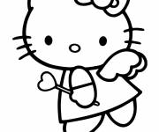 Coloring pages Hello Kitty Angel of love