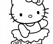 Coloring pages Hello Kitty Ballet Dancer