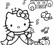 Coloring pages Hello Kitty Maternal Princess