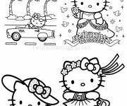 Coloring pages Hello Kitty Princess Birthday