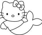 Coloring pages Hello Kitty coloring mermaid