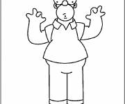 Coloring pages Homer Simpson that makes you laugh