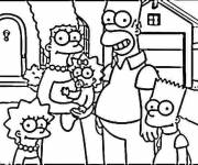 Coloring pages The Simpson Family