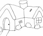 Coloring pages Buildings and house to color