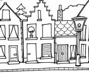 Coloring pages Buildings and houses