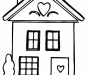Coloring pages Houses easy coloring