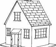 Coloring pages Houses in color