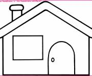 Coloring pages Houses in section easy