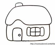 Coloring pages Houses in vector