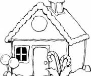 Coloring pages Houses simple