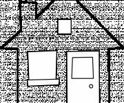 Coloring pages Vector house