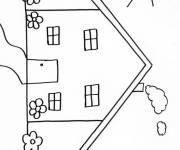 Coloring pages Very simple house