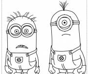 Coloring pages Minion Kevin and Stuart for children