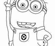Coloring pages Minion Kevin confident