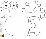 Coloring pages Minion Kevin to build