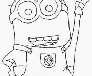 Coloring pages Minion Kevin to color