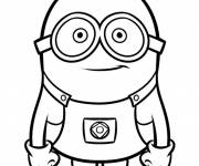 Coloring pages Minion Kevin vector