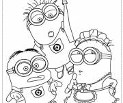 Coloring pages Minions film to cut