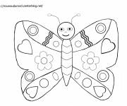 Coloring pages Cute butterfly