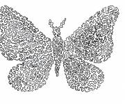 Coloring pages Difficult Kindergarten Butterfly