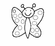 Coloring pages Easy Butterfly Kindergarten