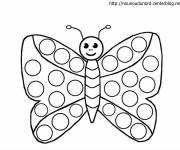 Coloring pages Kindergarten butterfly in color