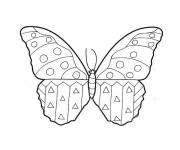 Coloring pages Kindergarten Butterfly to complete