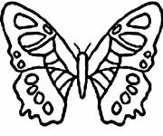 Coloring pages Kindergarten butterfly vector