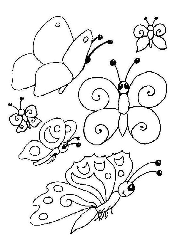 Free printable Kindergarten Butterfly coloring pages