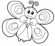 Coloring pages Smiling butterfly