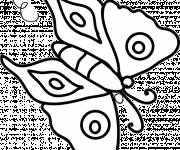 Coloring pages Vector Kindergarten Butterfly