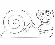 Free coloring and drawings A maternal snail Coloring page