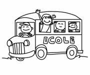Free coloring and drawings School bus on the road Coloring page