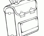 Free coloring and drawings Schoolbag for Kindergarten Coloring page