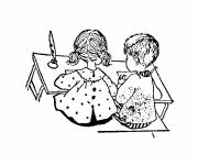 Free coloring and drawings Students in Class Coloring page