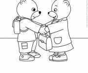 Free coloring and drawings The Little Bears in Kindergarten Coloring page