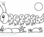 Free coloring and drawings A Maternal Earthworm Coloring page