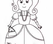 Coloring pages A maternal princess