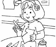 Free coloring and drawings A pupil in Kindergarten class Coloring page