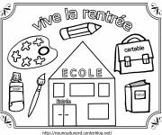 Free coloring and drawings Long live back to school Coloring page