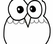 Coloring pages Owl in Kindergarten color