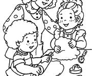Free coloring and drawings The Maternal Family Coloring page