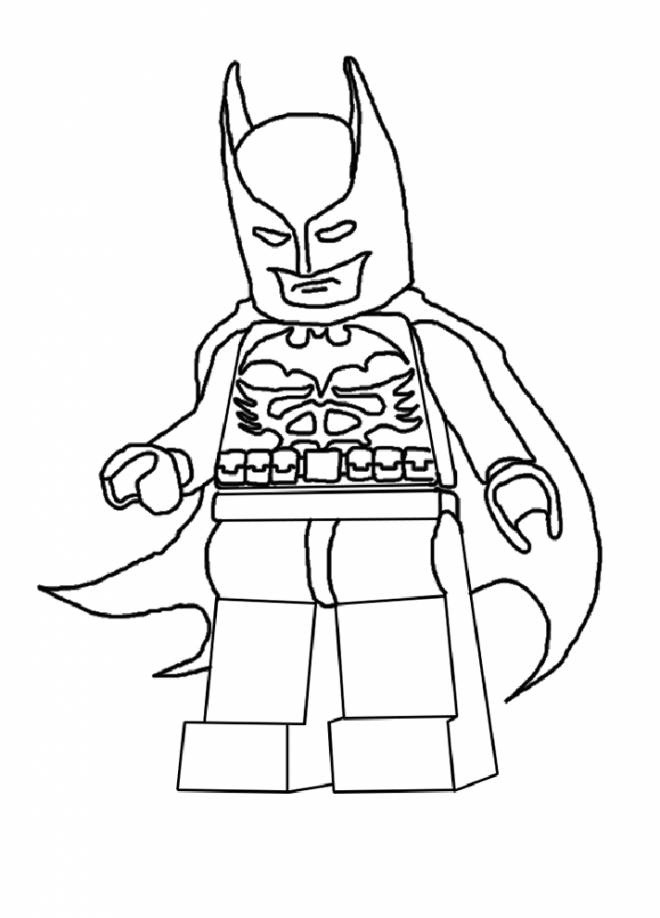 Free coloring and drawings Lego Batman easy Coloring page