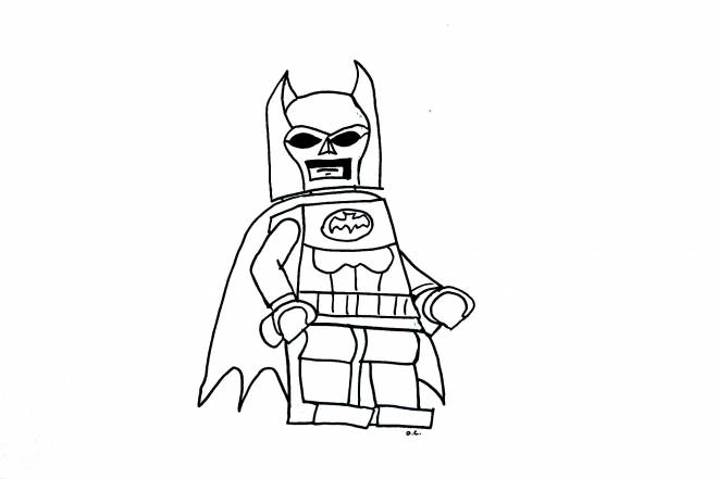 Free coloring and drawings Lego Batman for boys Coloring page