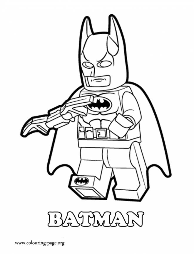 Free coloring and drawings Lego Batman for kids Coloring page