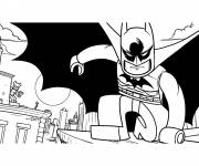 Coloring pages Lego Batman in black