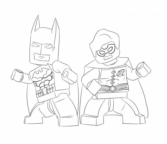 Free coloring and drawings Lego Batman in black and white Coloring page