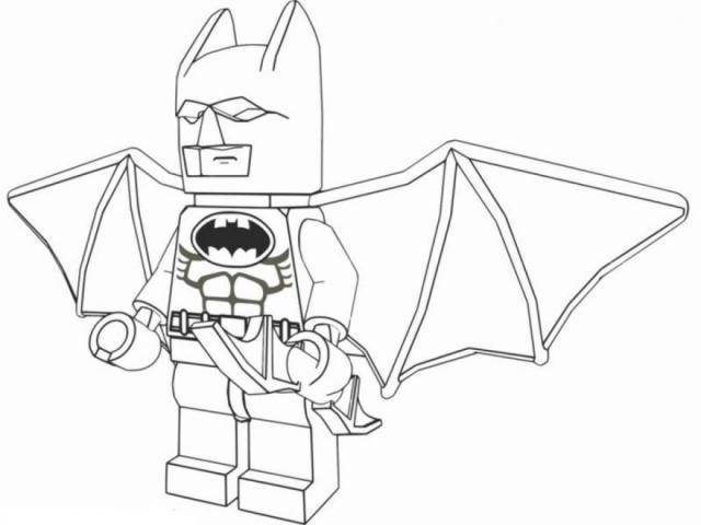 Free coloring and drawings Lego Batman in color Coloring page