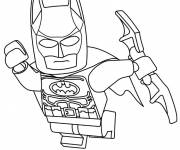 Coloring pages Lego batman in flight