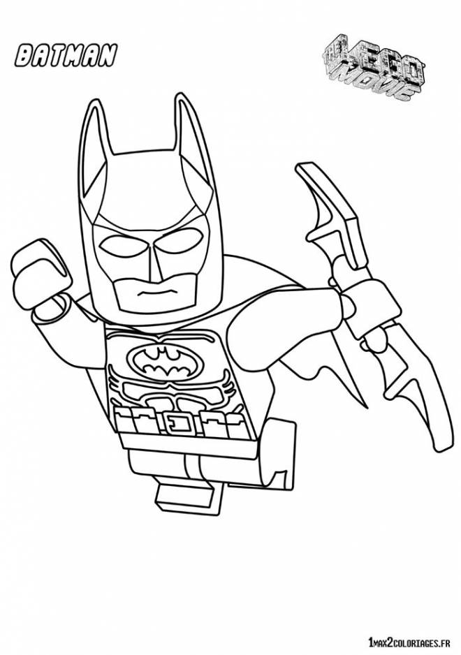 Free coloring and drawings Lego batman in flight Coloring page
